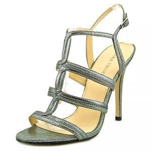 Ivanka Trump Silver Caged Heels